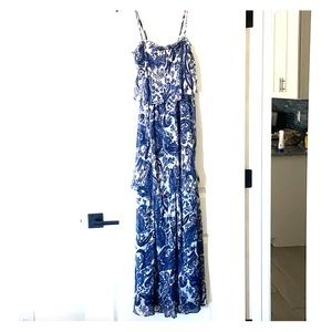 Willow and clay maxi dress Paisley blue size Xs
